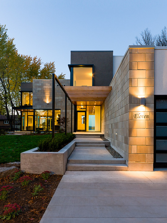 71 Contemporary Exterior Design Photos on Modern Entrance Design  id=31791