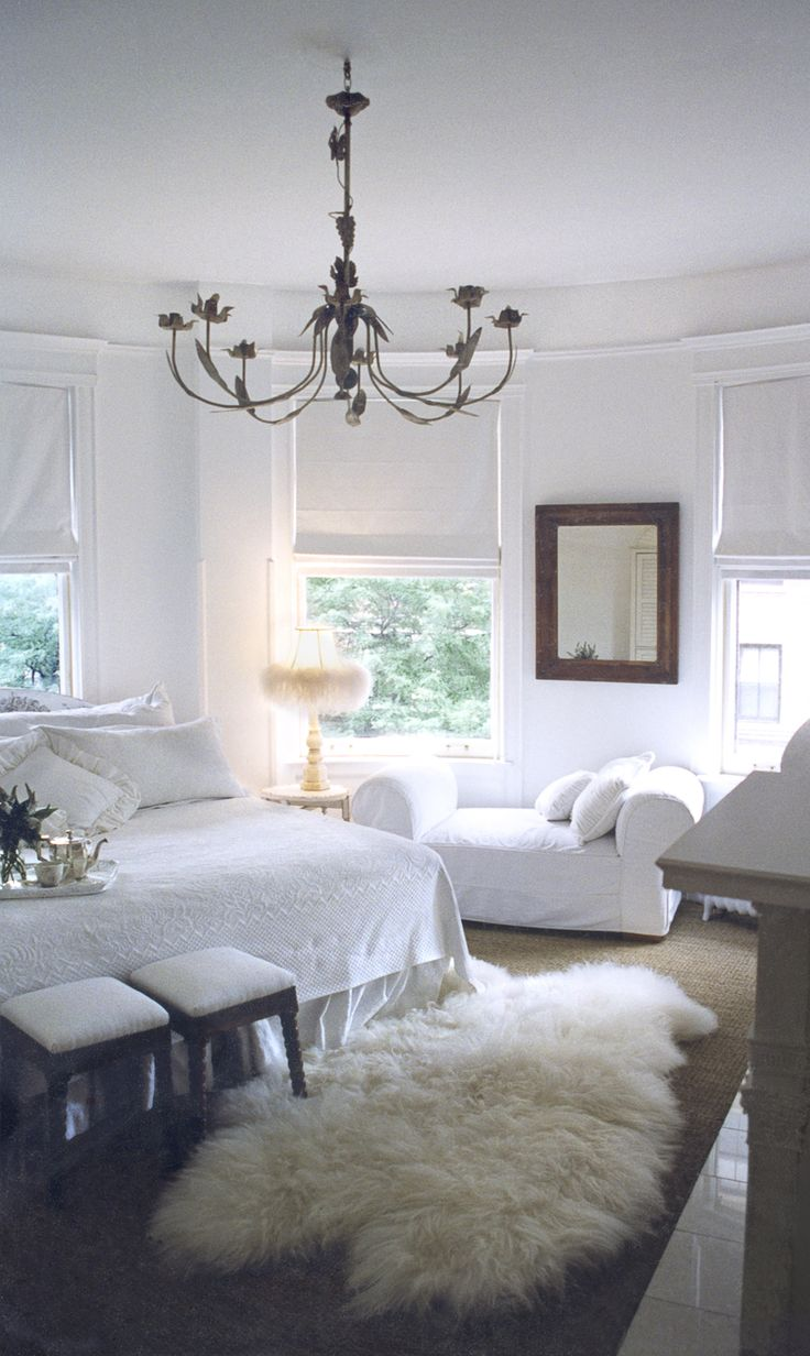 Crisp white bedroom