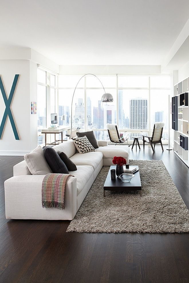 Apartment Living Room Design: White Sofa Design Ideas & Pictures For Living Room