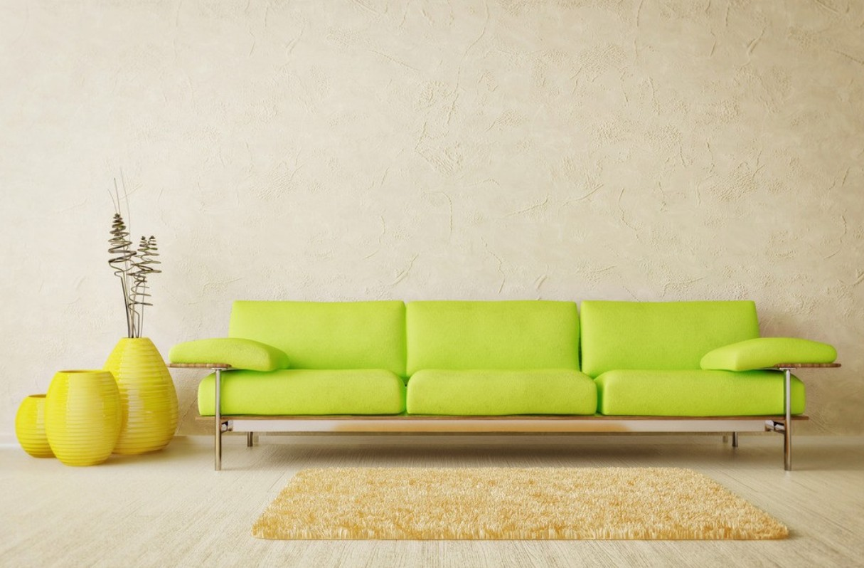 living room interior design ideas with green sofa
