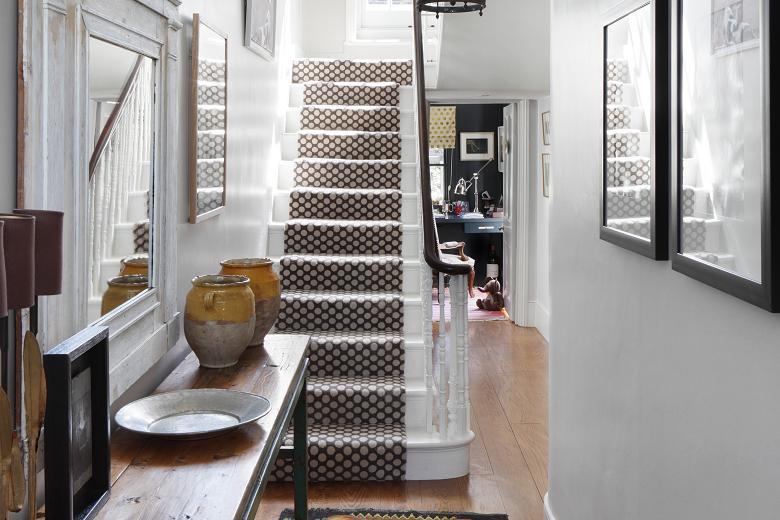 Polka dot stair carpe