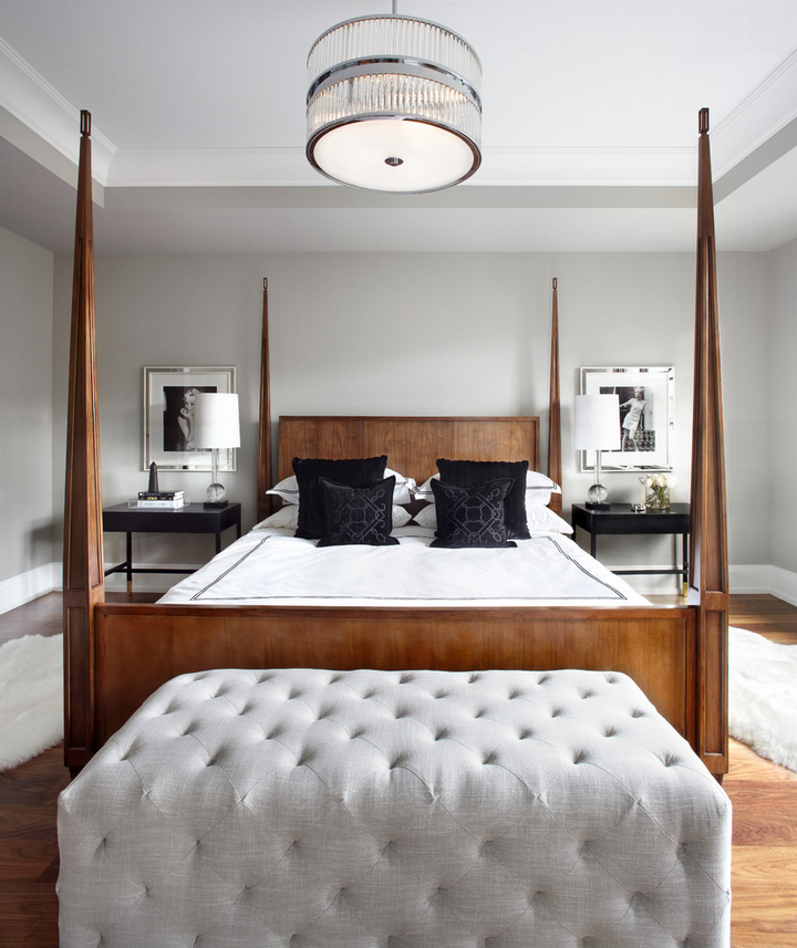 Transitional Wooden Bedroom in toronto