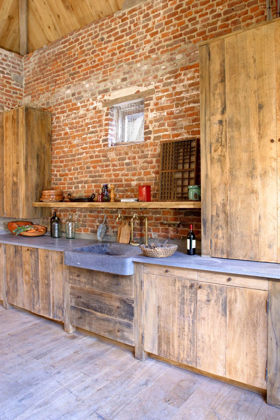 Vintage wooden kitchen