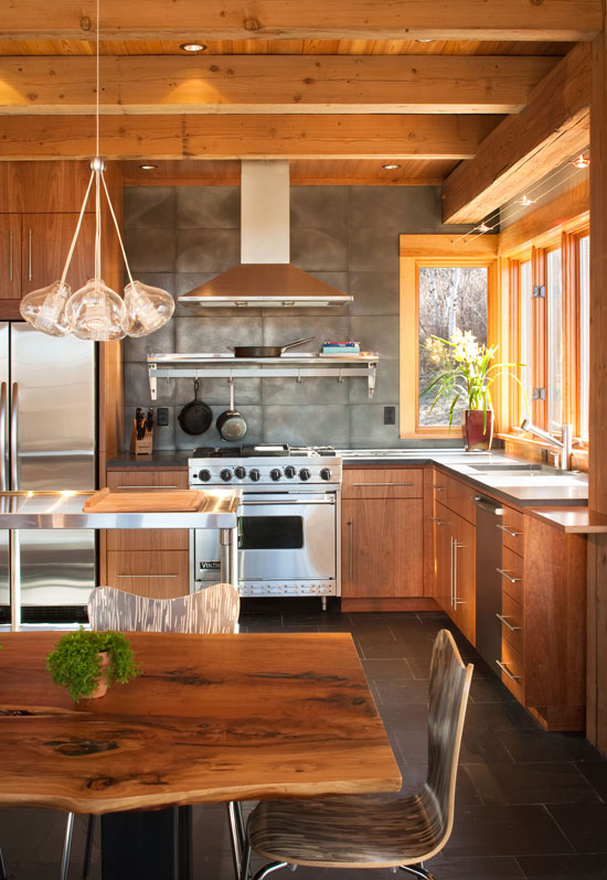 Wooden Kitchen Pics