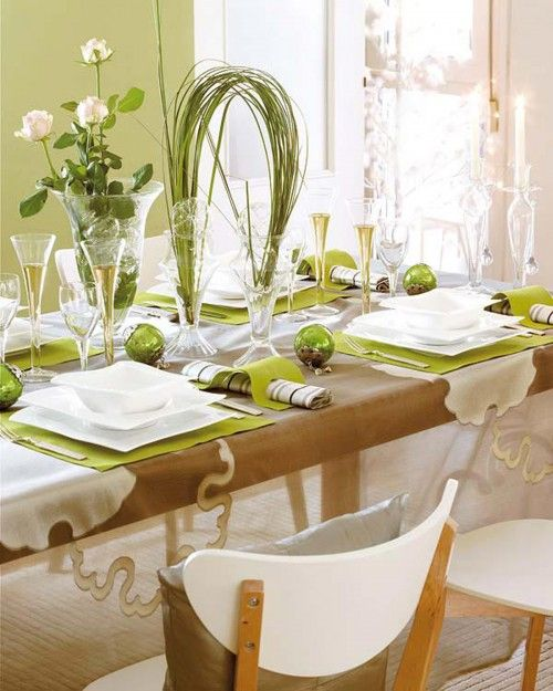 Fresh green and white decor