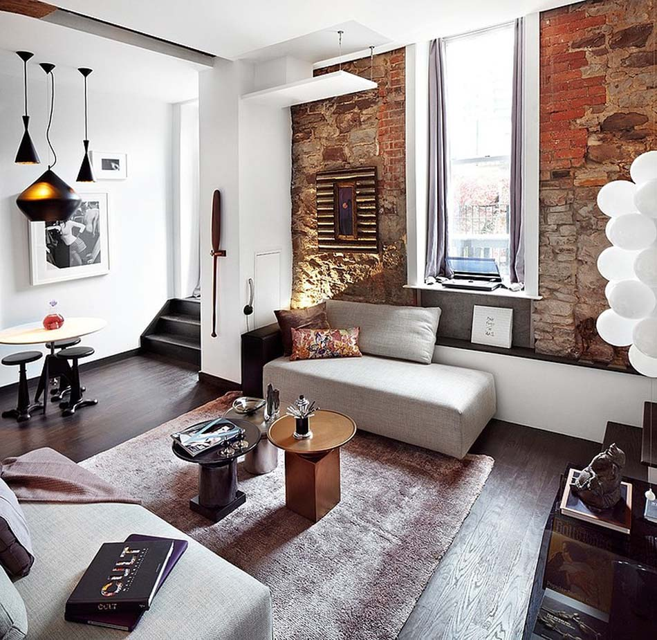 eclectic small living room design