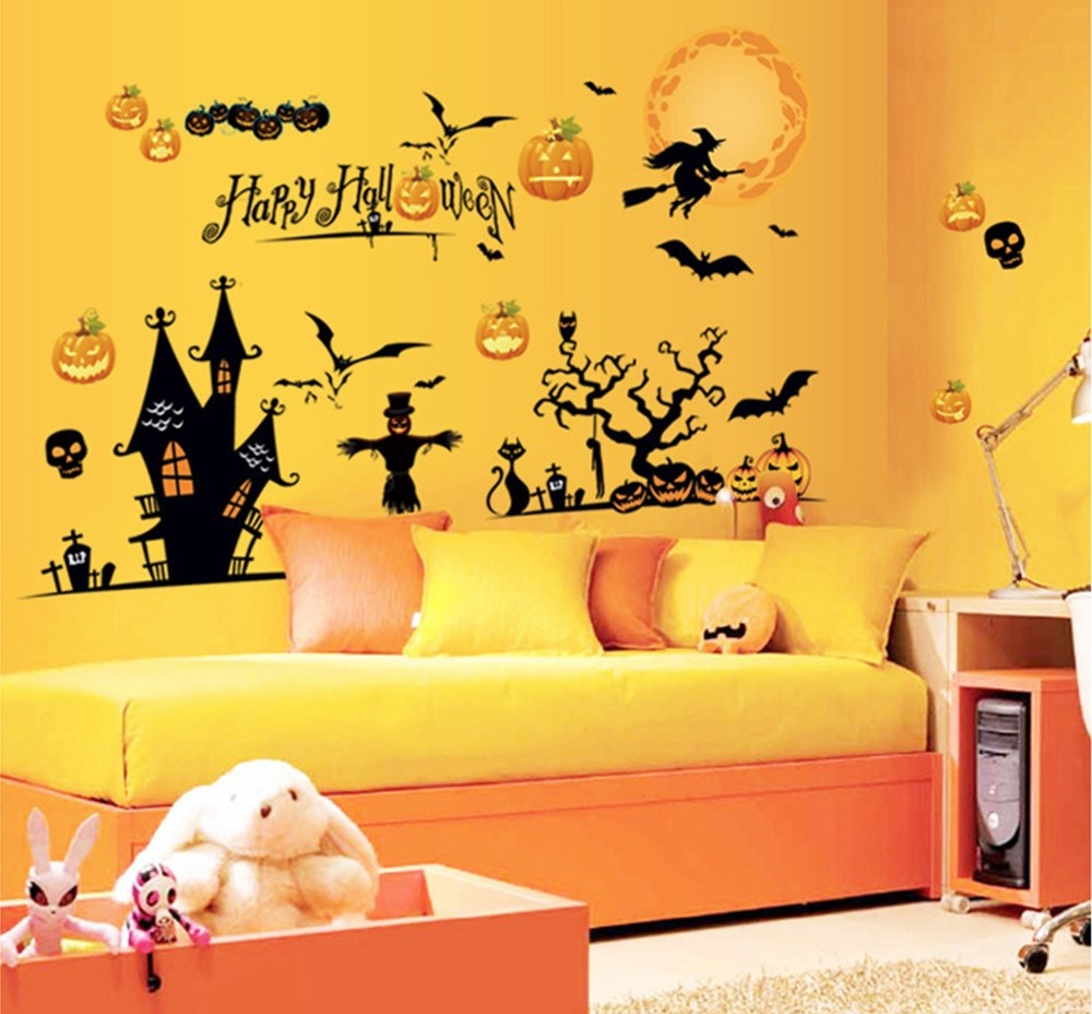 Halloween Decoration Wall Art Kids Room DIY Mural