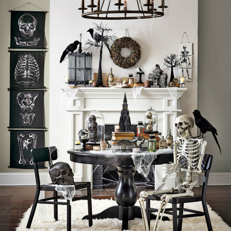 21 Stylish Living Room Halloween Decorations Ideas