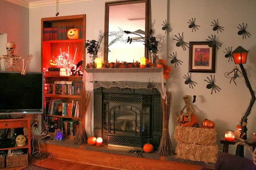 Living Room Halloween Decorations