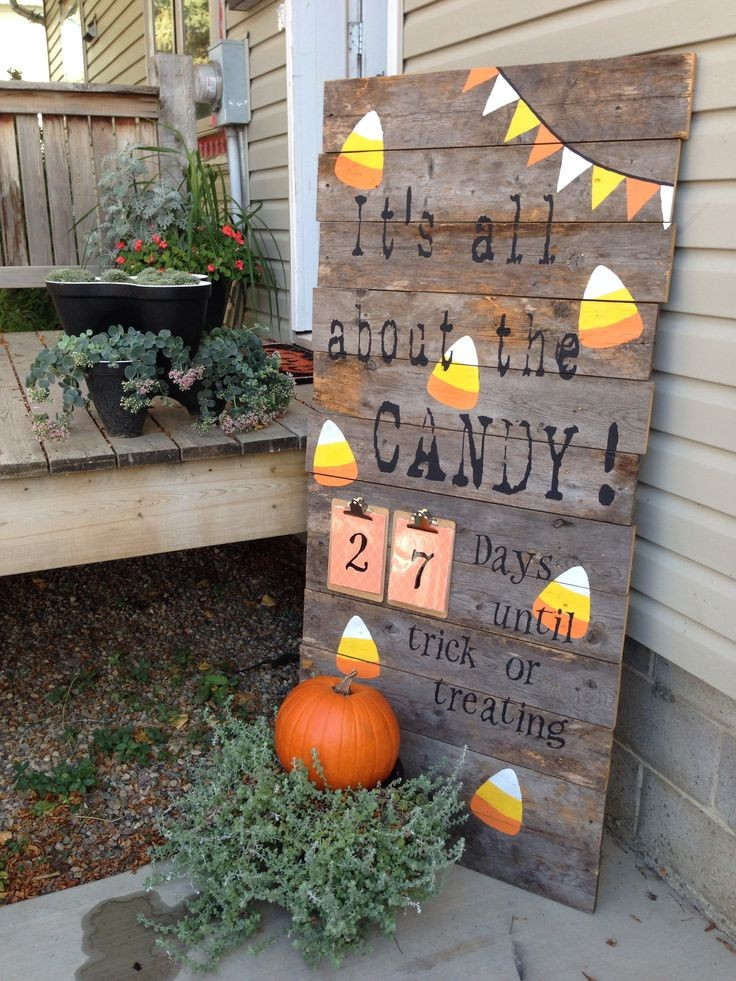 halloween candy corn wooden outdoor decoration