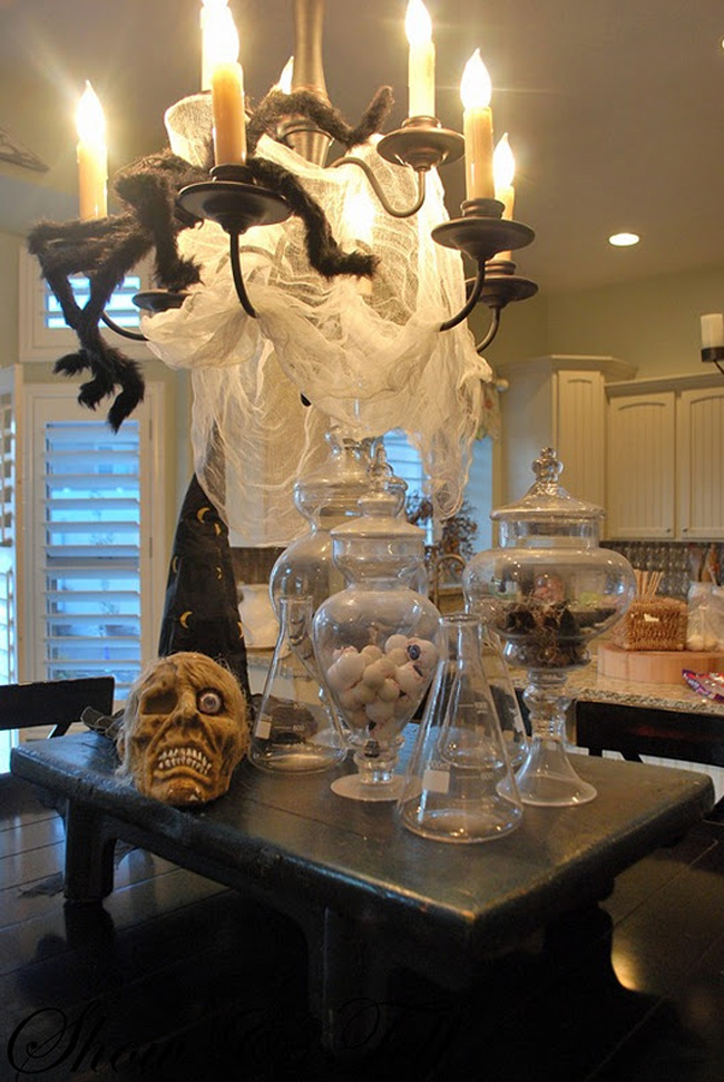 halloween creepy kitchen decorations