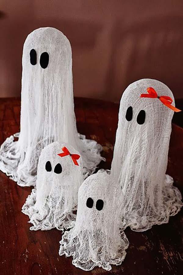 Floating Ghost DIY Halloween Decoration
