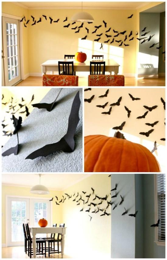 Flying Bats easy diy decorating ideas