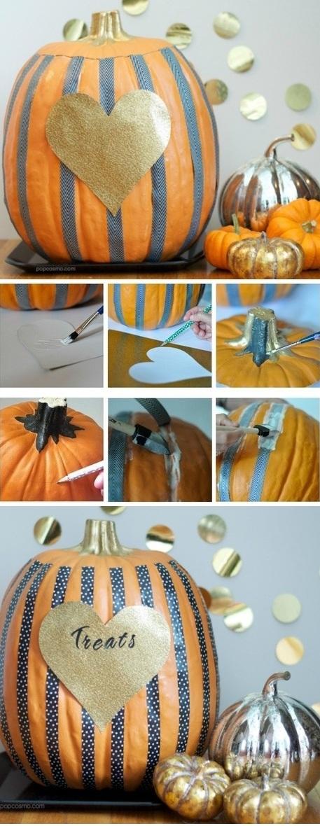 Heart Pumpkin DIY Halloween Decorations