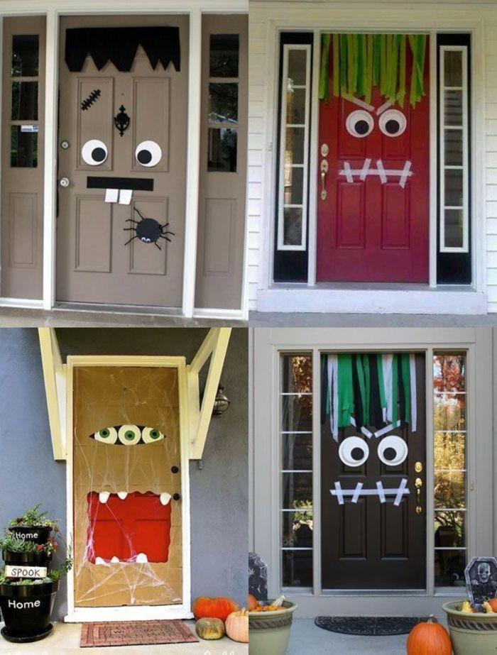 front door DIY halloween decorations
