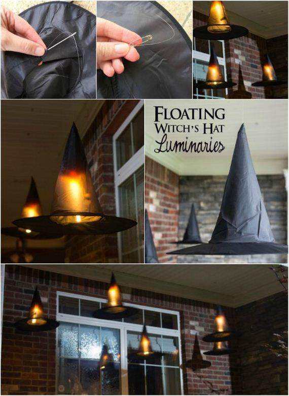 make halloween Floating Witch Hat Luminaries