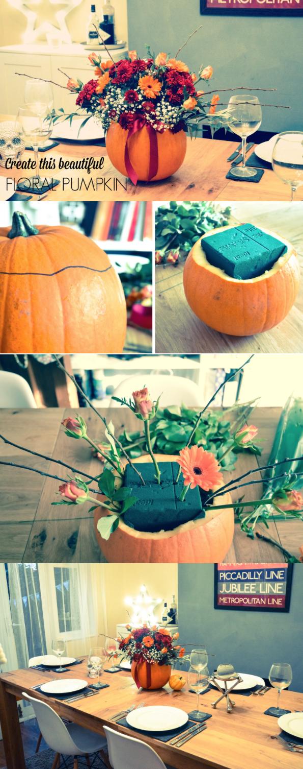 smashing pumpkin floral arrangement