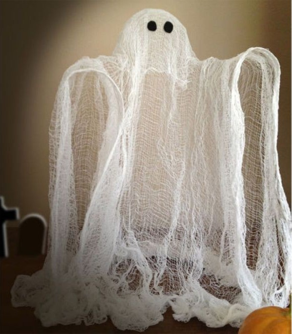 Funny cheesecloth Halloween ghost decoration
