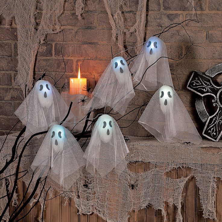 Ghost Halloween Lights Decorations