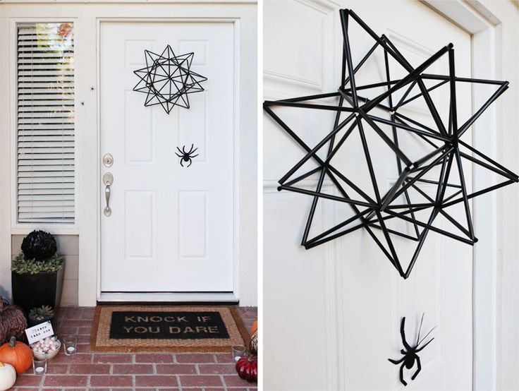Halloween door Spider Web Wreath