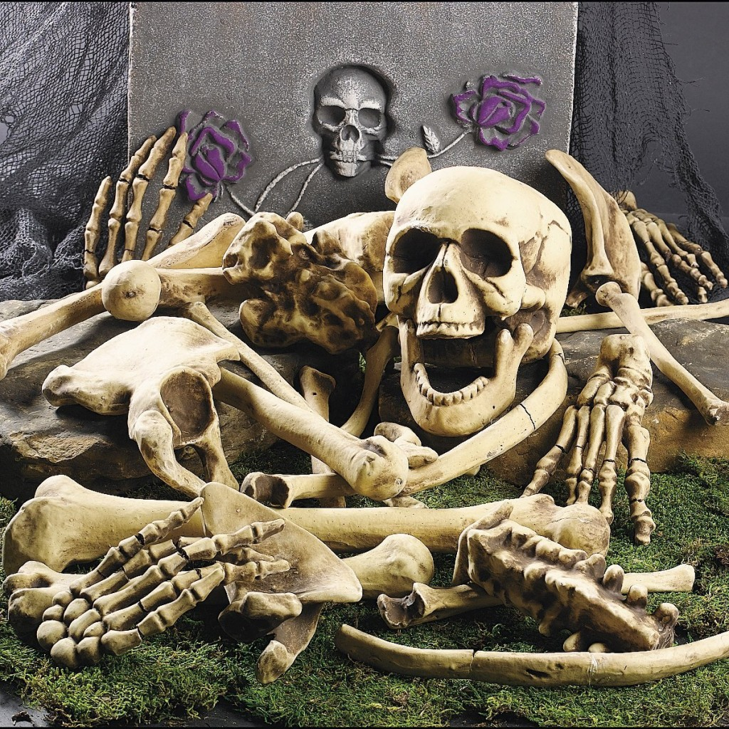outdoor halloween skeleton decorations