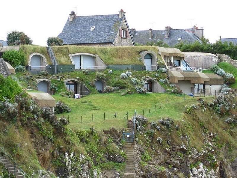 Adorable earth sheltered underground homes France