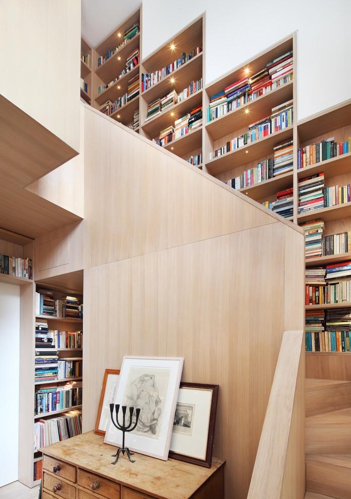 stairs book storage ideas